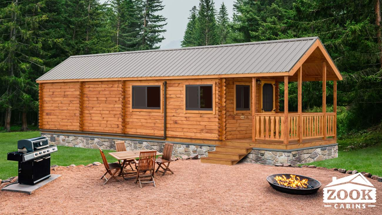 Lakeview Park Model Log Cabin
