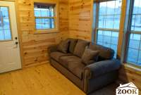 couch in a small cabin