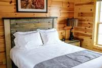 hunting cabin with a nice bedroom