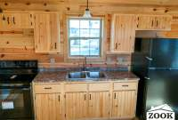 small cabin with a kitchen
