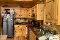 Kitchen in a Prefab Chalet Home