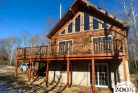 Prefab Challet Cabin Home With a Deck