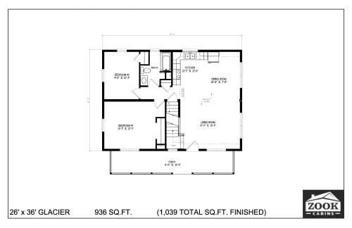 26x36 Glacier 06 28 2021 First Floor