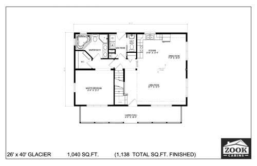 26x40 Glacier 06 28 2021 First Floor