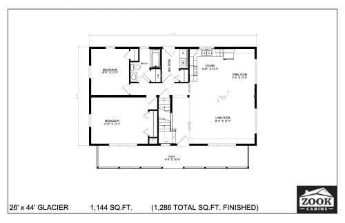 26x44 Glacier 06 28 2021 First Floor