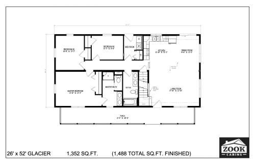 26x52 Glacier 06 28 2021 First Floor