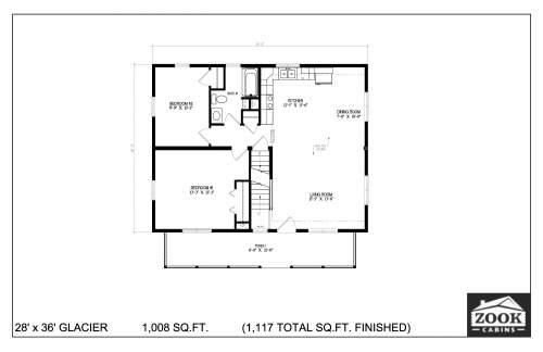28x36 Glacier 06 28 2021 First Floor