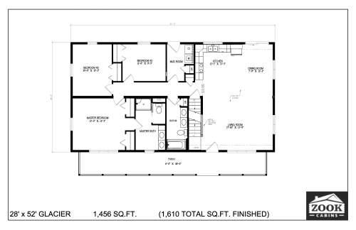 28x52 Glacier 06 28 2021 First Floor