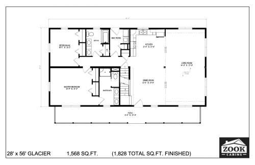 28x56 Glacier 06 28 2021 First Floor
