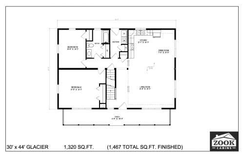 30x44 Glacier 06 28 2021 First Floor