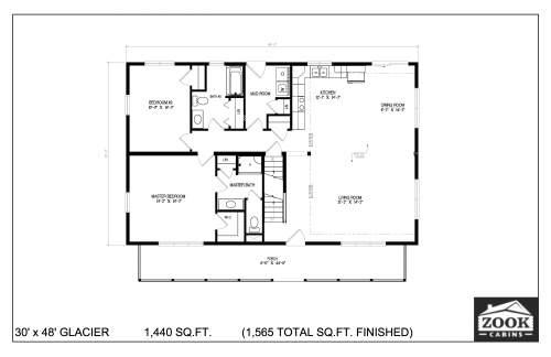 30x48 Glacier 06 28 2021 First Floor