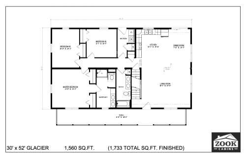30x52 Glacier 06 28 2021 First Floor