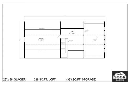 26x56 Glacier Floor Plans 2nd Floor