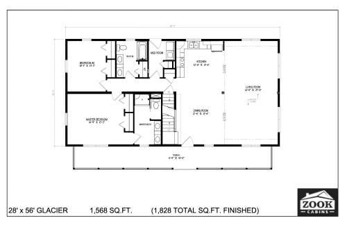 28x56 Glacier Floor Plans 1st Floor