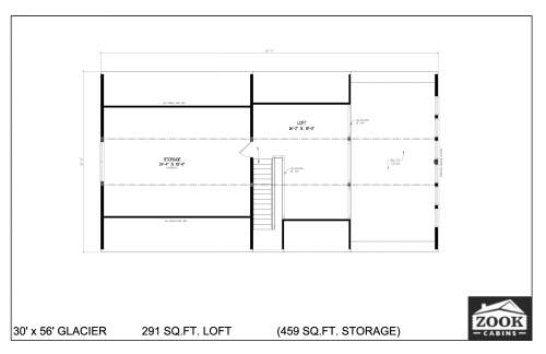 30x56 Glacier Floor Plans 2nd Floor