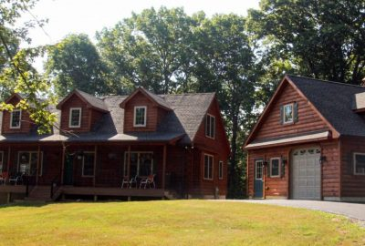 completed cabin in jarrettsville maryland