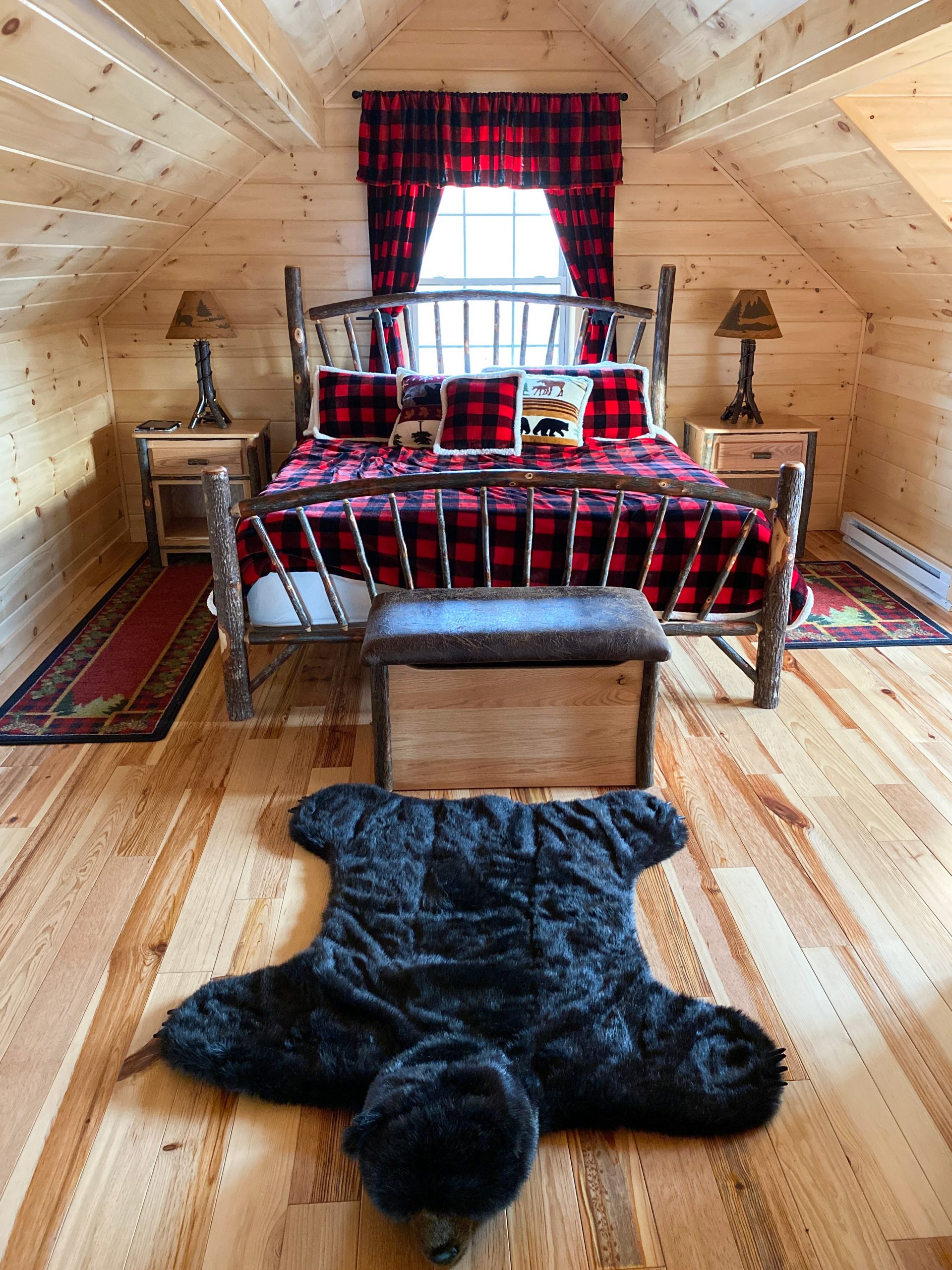 bedroom in cabin in jewett new york