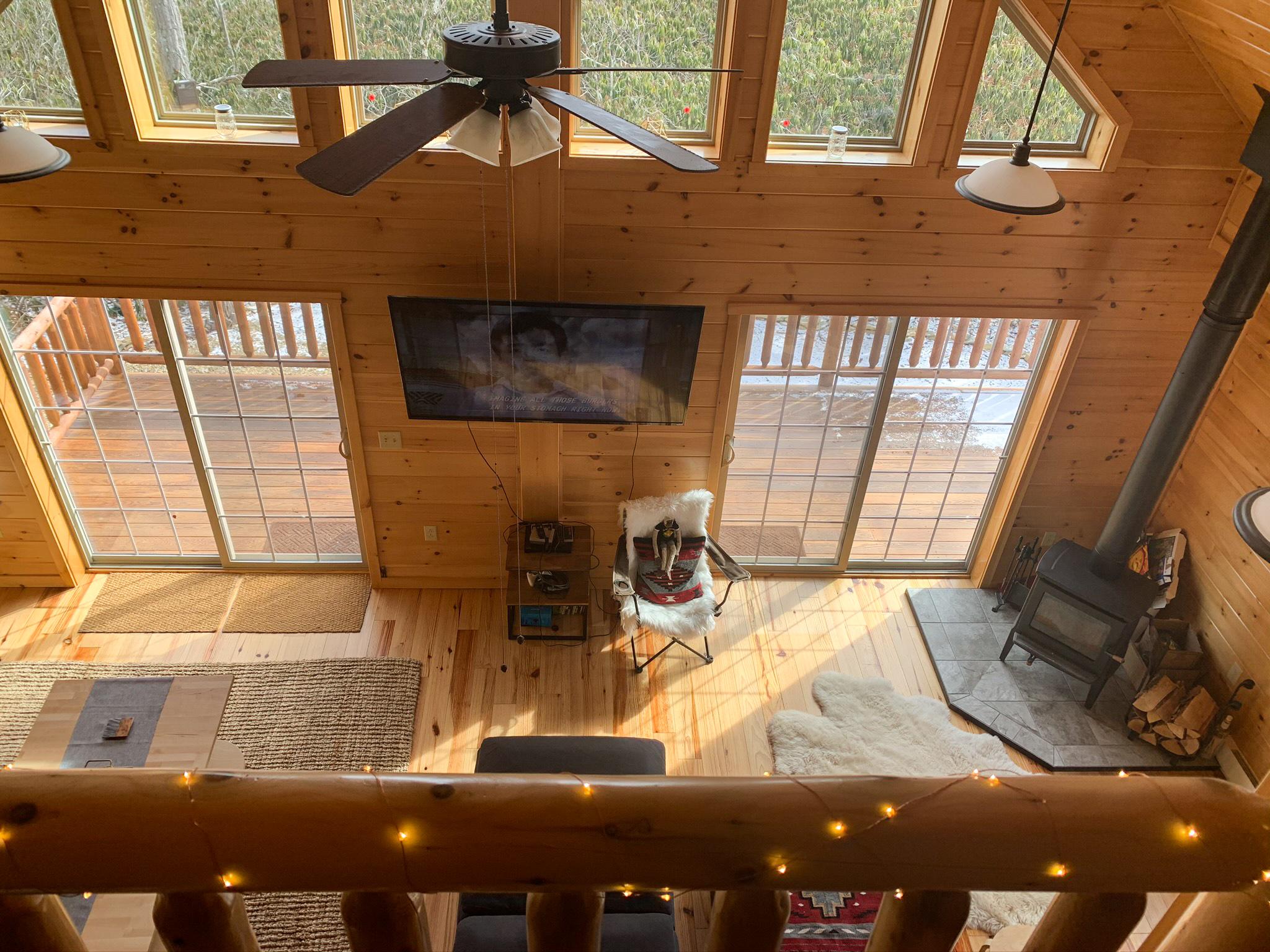 loft in cabin in jim thorpe pa