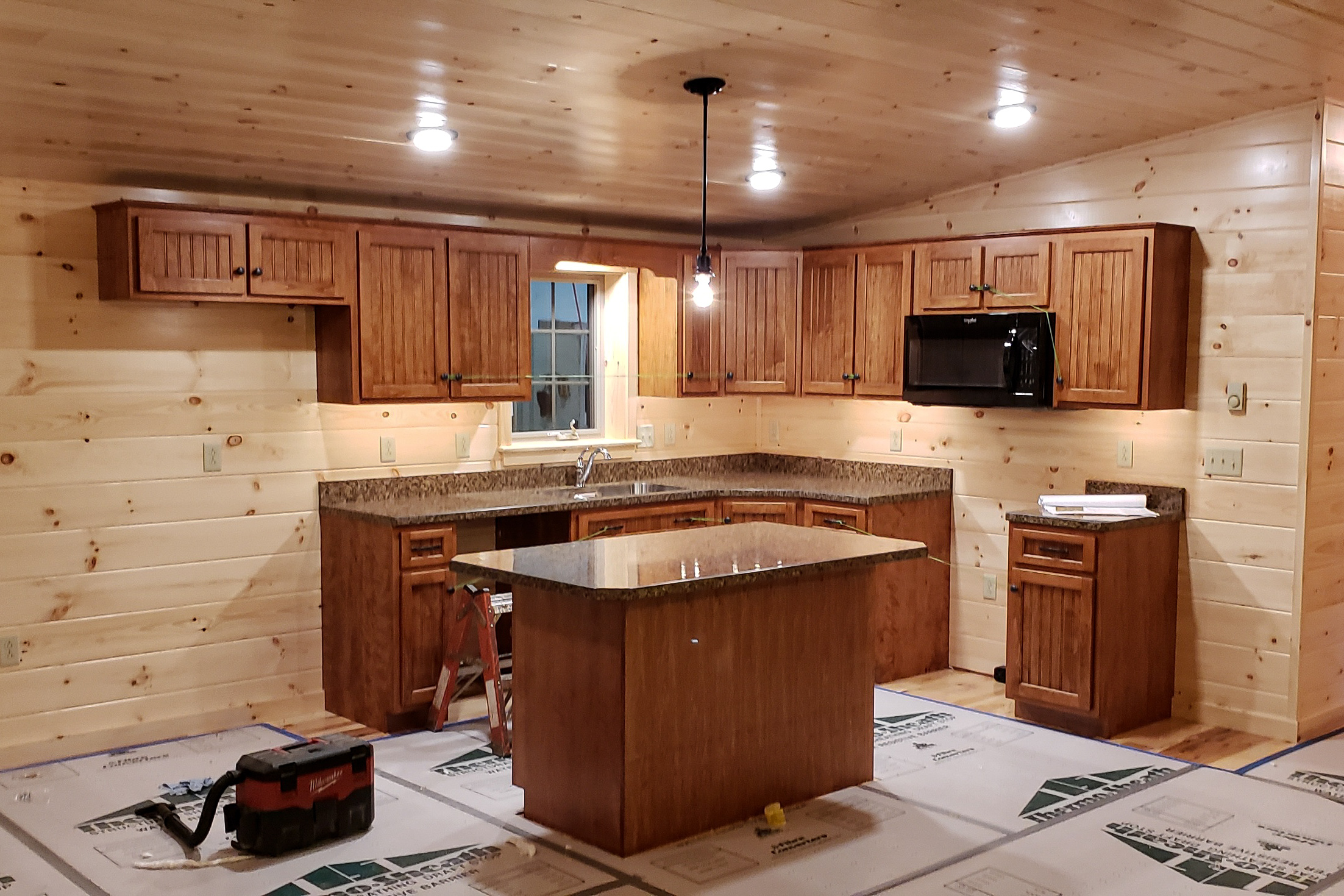 kitchen layout in cabin in jerfferson new hamshire
