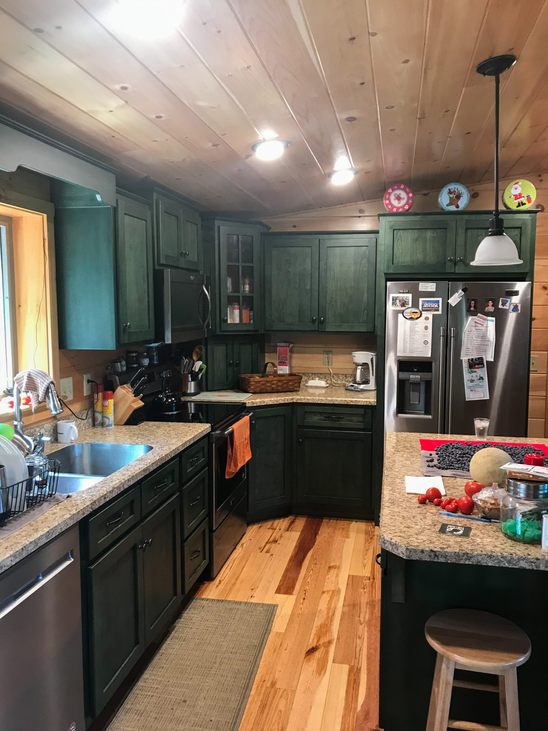 kitchen in cabin in coudersport pa