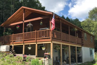 porch of cabin in coudersport pa