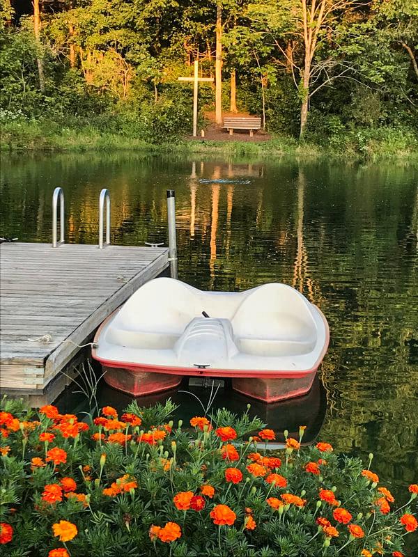 boat at cabin in oldenburg indiana