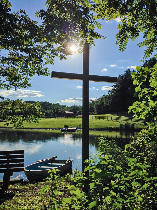 cross at cabin in oldenburg indiana