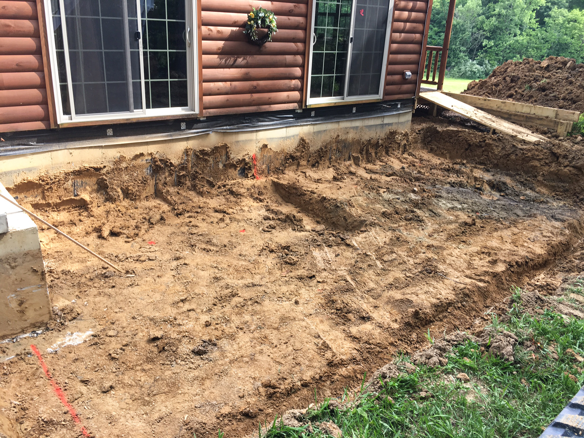 foundation for addition to cabin in oldenburg indiana