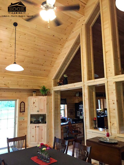 interior of cabin in oldenburg indiana