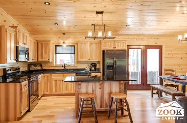 Kitchen of Sunset Ridge Cabin 1