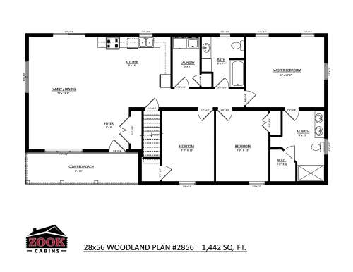 28x56 Woodland Floor Plan