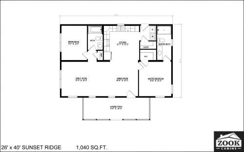 26x40 Sunset Ridge 04 01 2021 1st Floor Literature plan