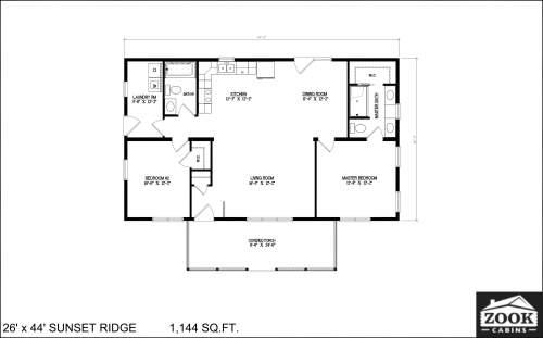 26x44 Sunset Ridge 04 01 2021 1st Floor Literature plan