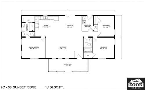 26x56 Sunset Ridge 04 01 2021 1st Floor Literature plan