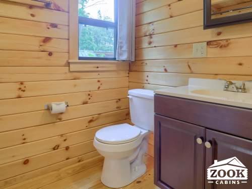 Bathroom in the Sierra Park Model Trailer
