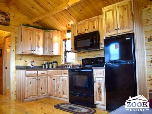 Park Model Log Cabin Kitchen