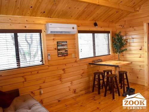 Park Model Log Cabin Living Area