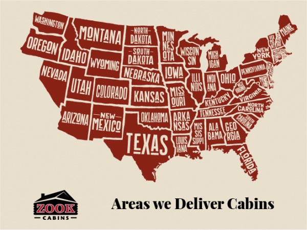 Zook Cabins Delivery Map New