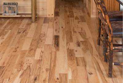 custom log cabin hickory maple flooring