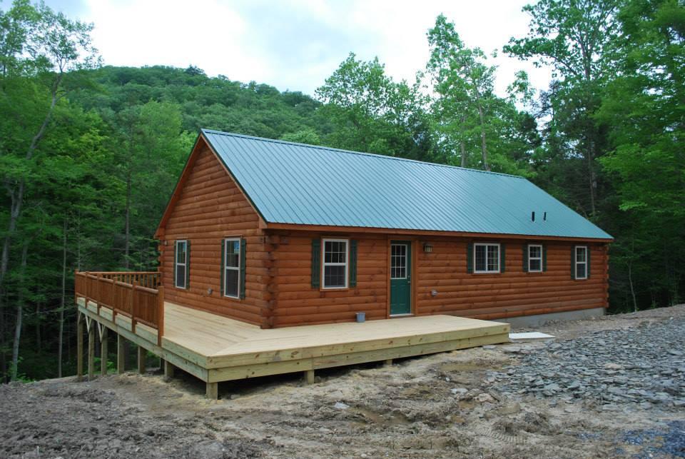 exterior modular log home