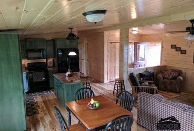 inside luxury log cabin home
