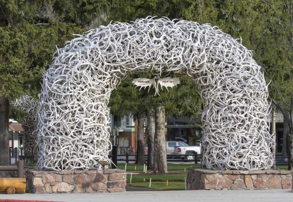 antler archway in jackson hole