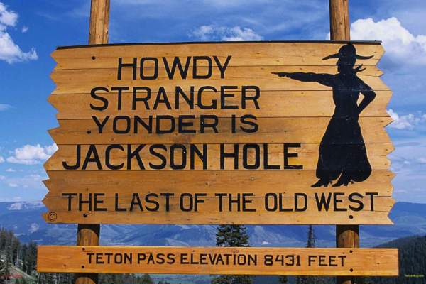 sign introducing jackson hole