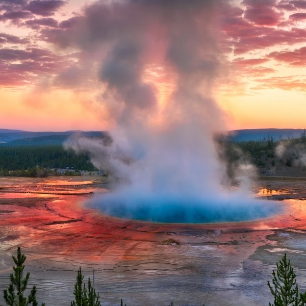 yellowstone national park near jackson hole