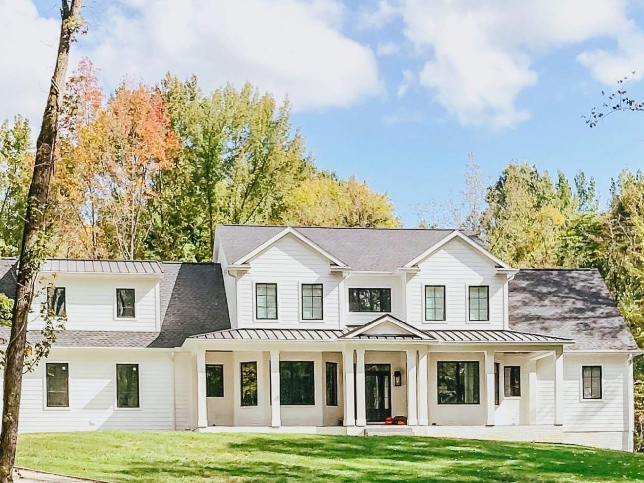 Modern Farmhouse Style Setting in the woods