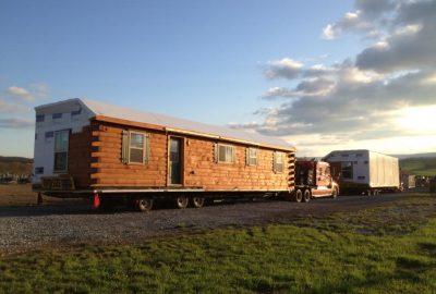 modular log home delivery pa 1