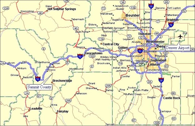 Silverethorne Colorado map