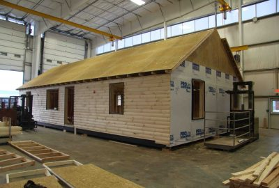 shop built cabin