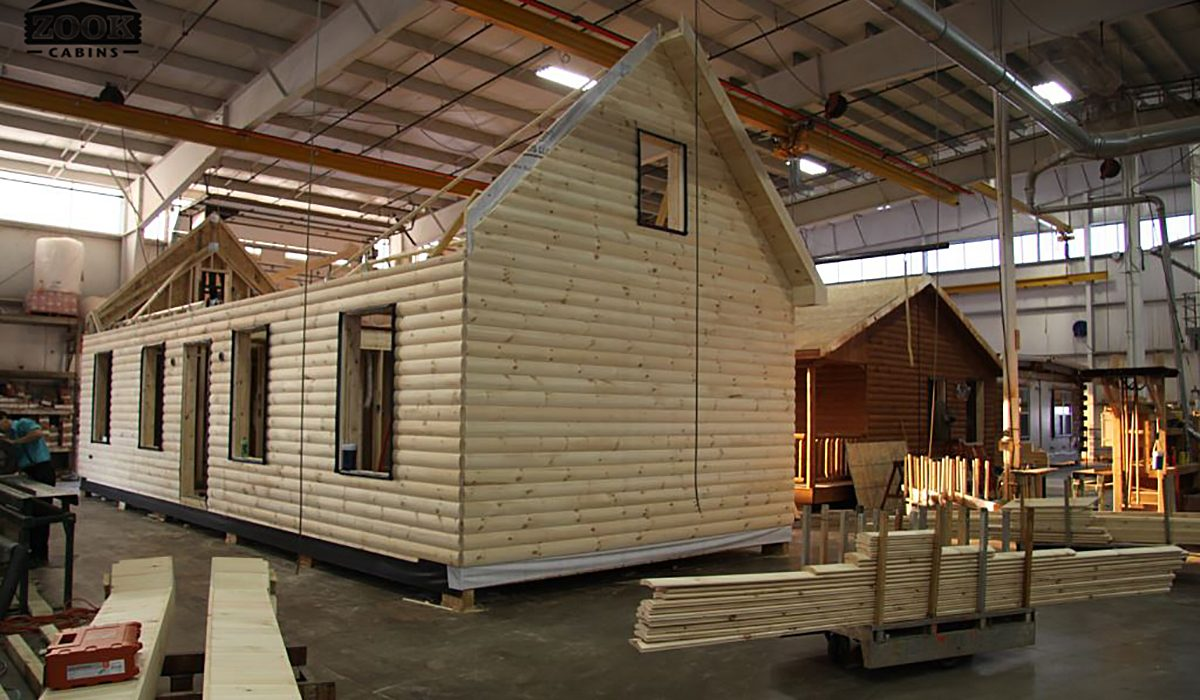 prefab log cabin business