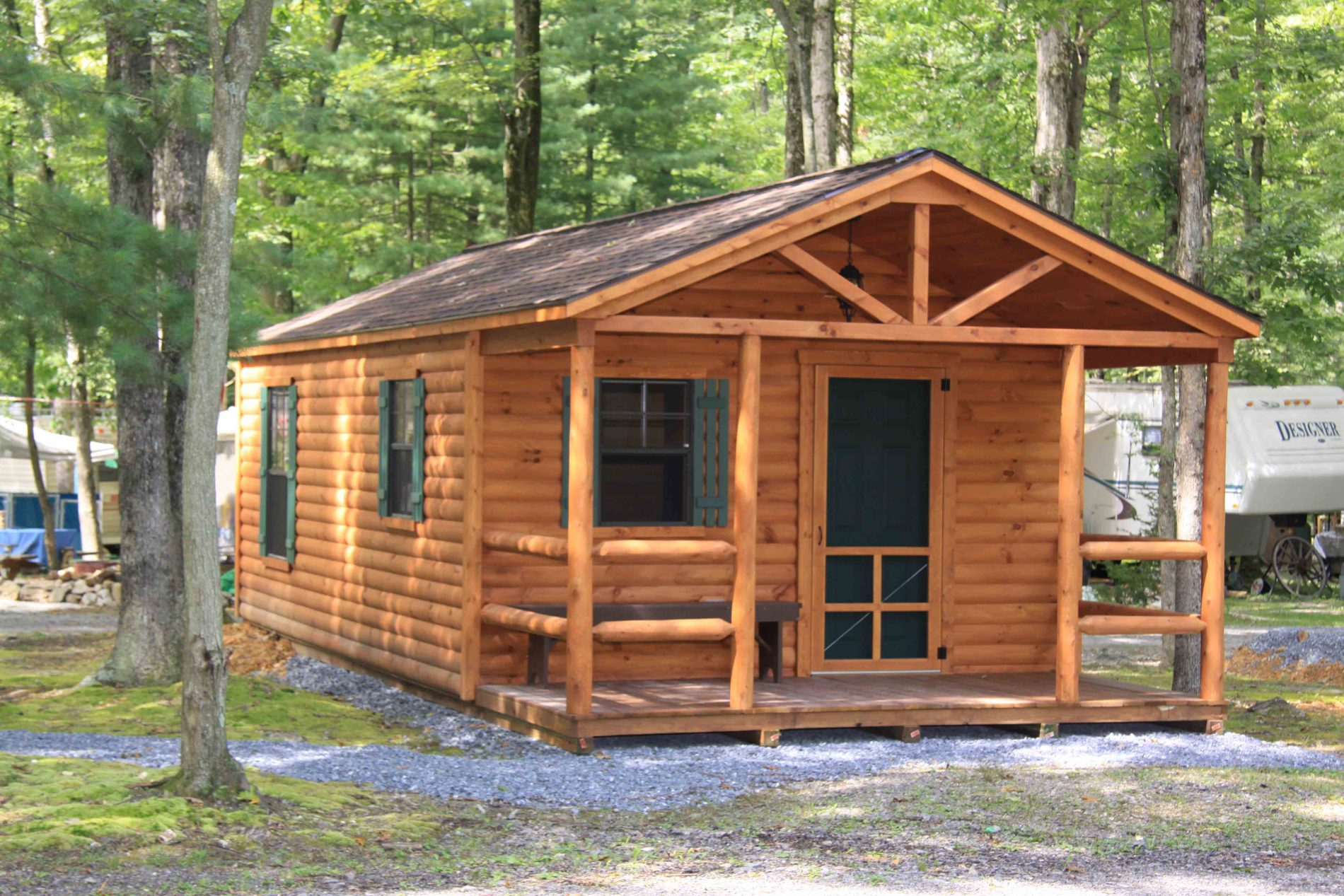 Campground cabins rustic log cabins for sale zook cabins for Large cabin kits